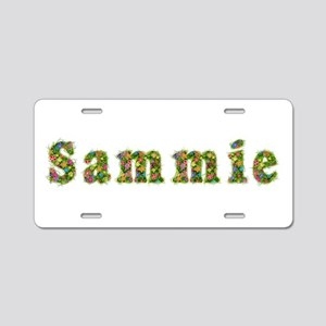 Sammie Floral Aluminum License Plate