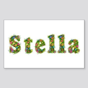 Stella Floral Rectangle Sticker