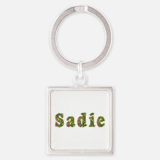 Sadie Floral Square Keychain