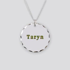Taryn Floral Necklace Circle Charm