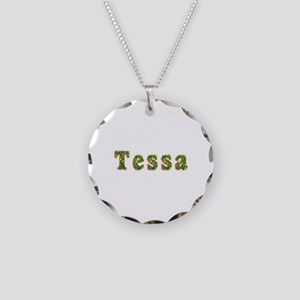 Tessa Floral Necklace Circle Charm