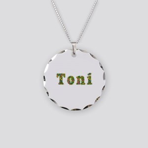 Toni Floral Necklace Circle Charm