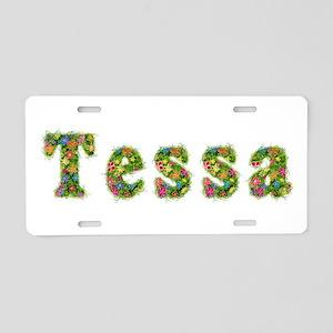 Tessa Floral Aluminum License Plate