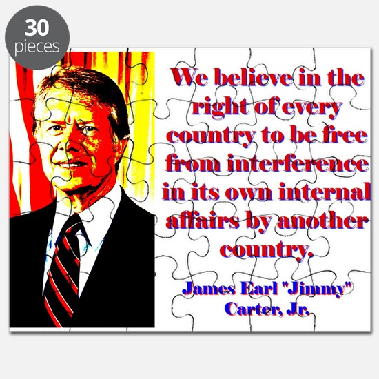 We Believe In The Right - Jimmy Carter Puzzle
