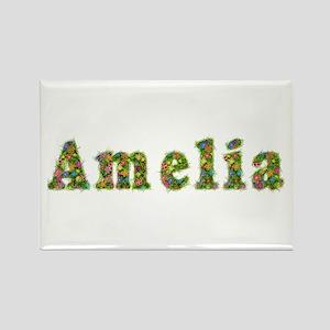 Amelia Floral Rectangle Magnet
