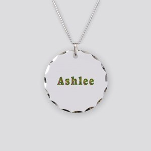 Ashlee Floral Necklace Circle Charm