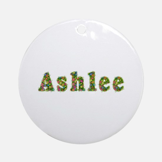 Ashlee Floral Round Ornament