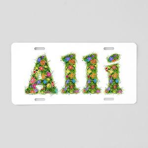 Alli Floral Aluminum License Plate