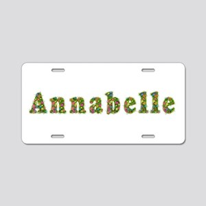 Annabelle Floral Aluminum License Plate