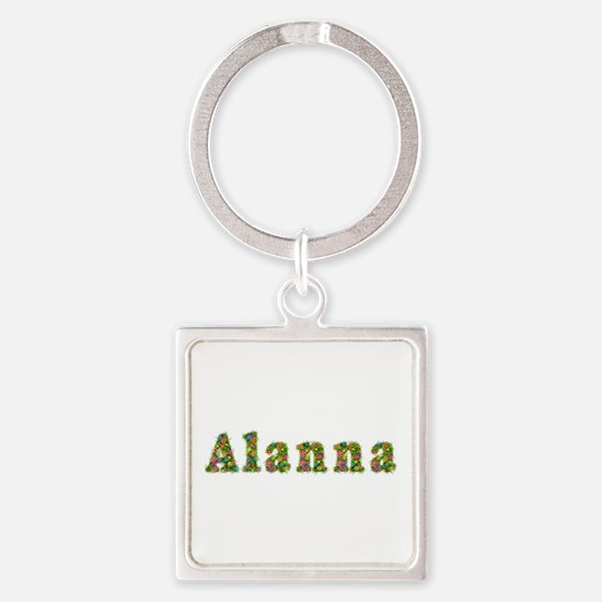 Alanna Floral Square Keychain