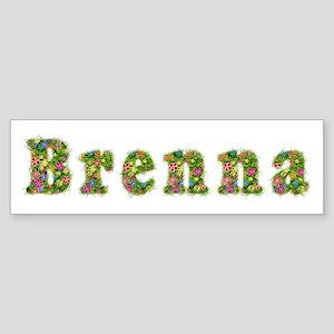 Brenna Floral Bumper Sticker