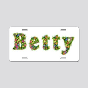 Betty Floral Aluminum License Plate