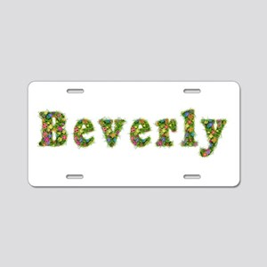 Beverly Floral Aluminum License Plate