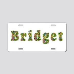 Bridget Floral Aluminum License Plate