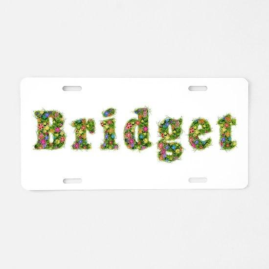 Bridget Floral Aluminum License Plate