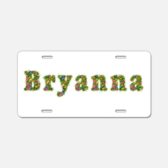 Bryanna Floral Aluminum License Plate