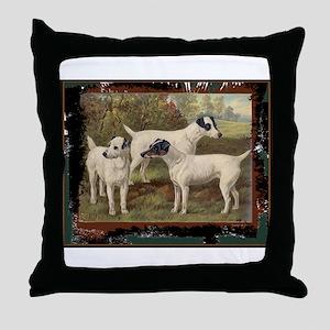 Antique Fox Terriers Throw Pillow