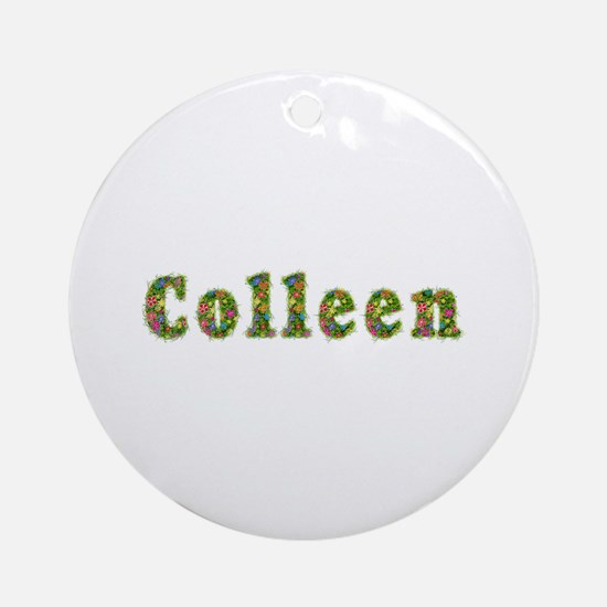 Colleen Floral Round Ornament