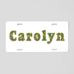 Carolyn Floral Aluminum License Plate