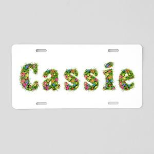 Cassie Floral Aluminum License Plate