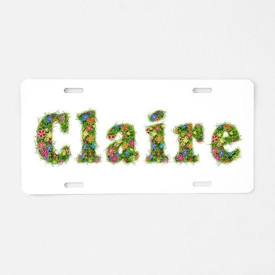 Claire Floral Aluminum License Plate