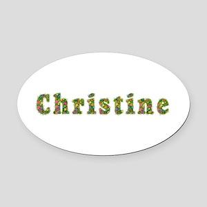 Christine Floral Oval Car Magnet