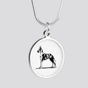 Great Dane Silver Round Necklace