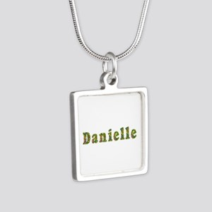 Danielle Floral Silver Square Necklace