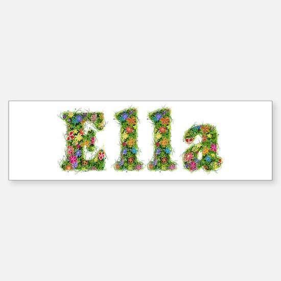 Ella Floral Bumper Bumper Bumper Sticker