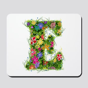 E Floral Mousepad