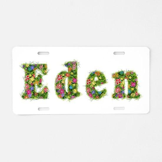 Eden Floral Aluminum License Plate