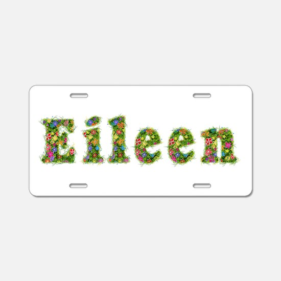 Eileen Floral Aluminum License Plate