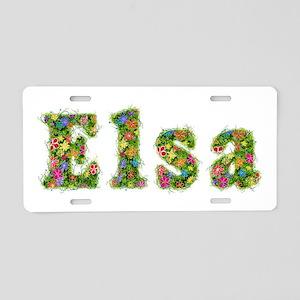 Elsa Floral Aluminum License Plate