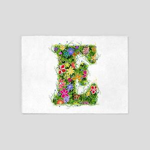 E Floral 5'x7' Area Rug