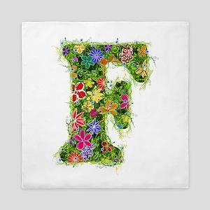F Floral Queen Duvet