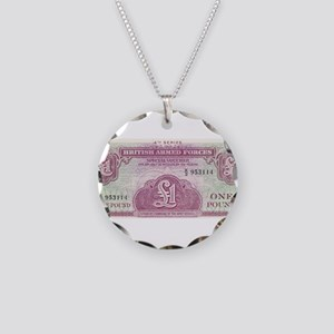 British Armed Forces 1 Pound v1 Necklace Circle Ch