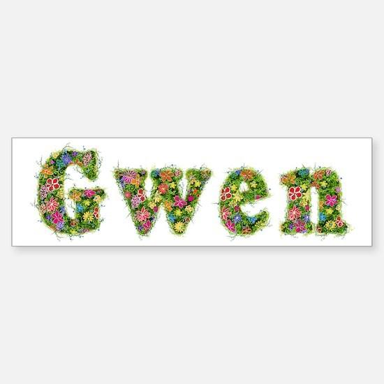 Gwen Floral Bumper Bumper Bumper Sticker
