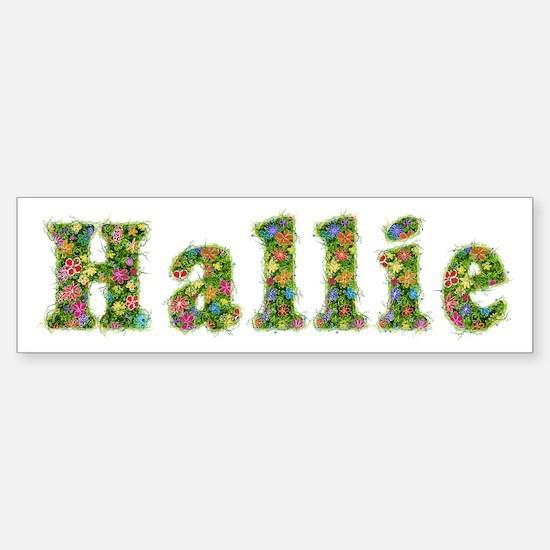 Hallie Floral Bumper Car Car Sticker