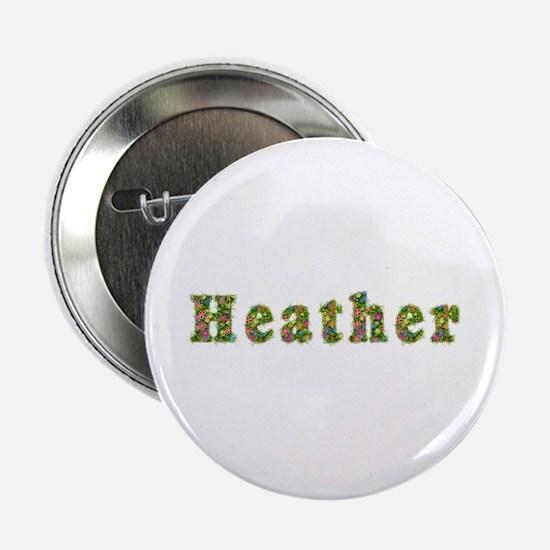 Heather Floral Button
