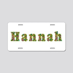 Hannah Floral Aluminum License Plate