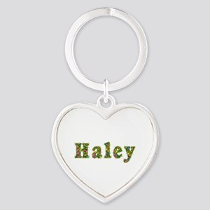 Haley Floral Heart Keychain