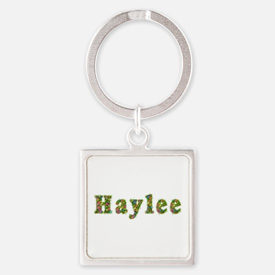 Haylee Floral Square Keychain