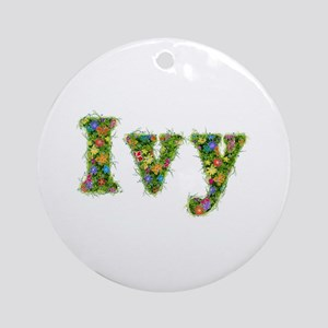 Ivy Floral Round Ornament
