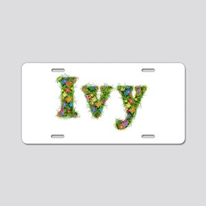 Ivy Floral Aluminum License Plate