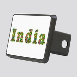 India Floral Rectangular Hitch Cover