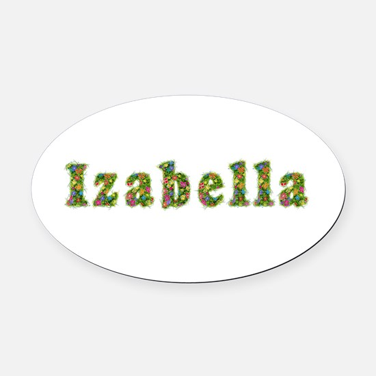 Izabella Floral Oval Car Magnet