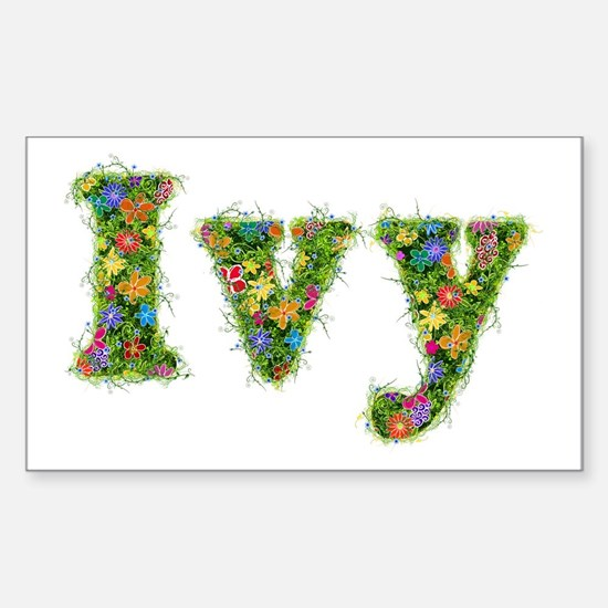 Ivy Floral Rectangle Decal
