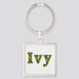 Ivy Floral Square Keychain
