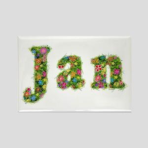 Jan Floral Rectangle Magnet