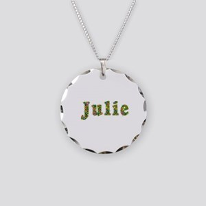 Julie Floral Necklace Circle Charm